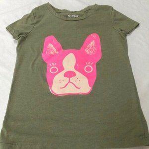 Girls' Short Sleeve Dog Graphic T-Shirt XS